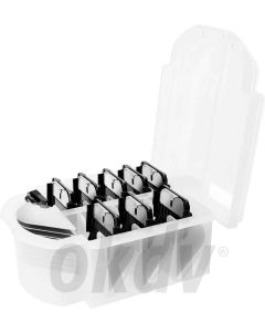 Set Opzetkammen 9 st. in box tot 32 mm