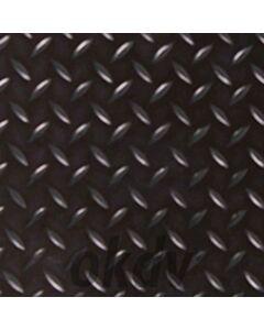 Zwart rubber 150 cm breed, per meter