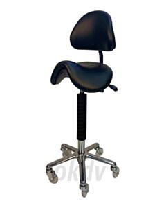 Ergo-chair, originele zadelzit met rugleuning