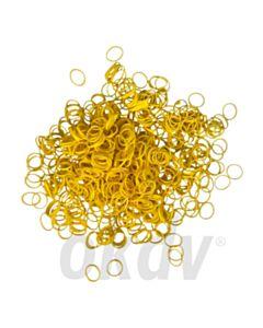 Elastiekjes 1000 stuks, geel