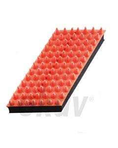 Rubber massageborstel dropvorm, klein