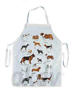Wasschort wit met diverse hondenrassen