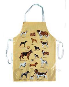 Wasschort geel met diverse hondenrassen
