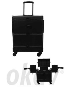 Aluminium trolley-koffer large luxe
