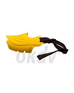 Silicone muilkorf geel maat XL